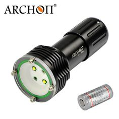 Diving Flashlight ARCHON W38VR D32VR 2*CREE XM-L U2 LED 1400lm 100Munderwater photographing Light with 32650 li-ion battery
