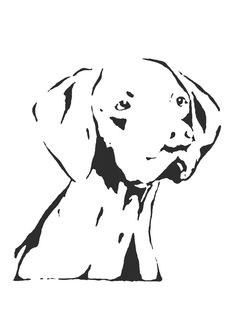 Image result for vizsla clipart outline