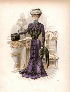 3 Victorian Edwardian Ladies Dress Design Fashion Colour Reproduction Prints NEW | eBay