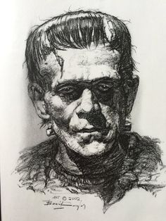 Basil Gogos - Boris Karloff as the Monster
