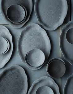 Bluish-Grey dishes