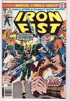 Iron Fist #9 Nov 1976 Marvel Comic Book Kung Fu Action Living Weapon Chaka Tiger