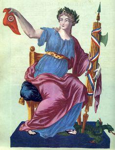 Marianne liberté | Cette allégorie de 1791 réunit plusieurs éléments symboliques: