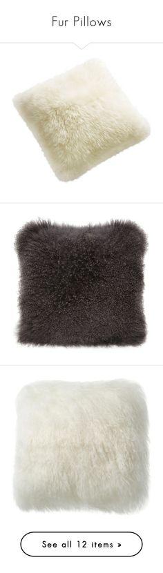 """Fur Pillows"" by kathykuohome ❤ liked on Polyvore featuring pillows, kathykuohome, furpillow, home, home decor, throw pillows, cream throw pillows, ivory throw pillows, off white throw pillows and square throw pillows"