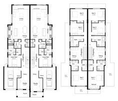Townhouse Designs, Duplex House Design, Town House Floor Plan, Double House, Duplex Floor Plans, Architectural Features, Rose Cottage, Mosaic Designs, Home Design Plans
