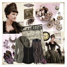 """Steampunk"" by nz-carla ❤ liked on Polyvore featuring BasicGrey, Marc by Marc Jacobs and Odile De Changy"