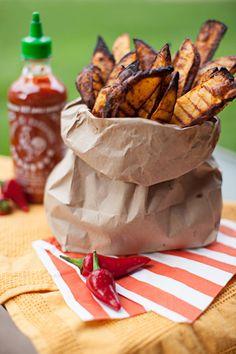 Sriracha Oven Fries #recipe #vegetarian #vegan #glutenfree