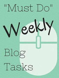 """I'm excited to be participating yet again in this year's Blogathon! Of course it seems like every day is a blogathon over here, but at least today other people are joining me! Today I'm going to share with you my """"must-do"""" weekly blog tasks, and at the end you'll findone of the mini challenges for...[ReadMore]"""