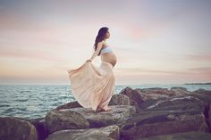 Sunset Beach Maternity Photography