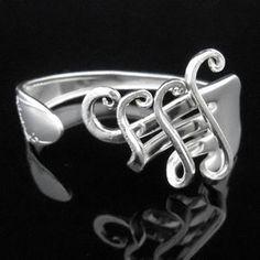 Fork Bracelet Silverware Jewelry in Fancy Design par MarchelloArt