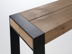 Beam console by Van Rossum   Side tables