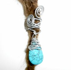 turquoise dread bead by seididread on Etsy, €7,00 :: Shop DreadStop.Com for Leather Dreadlock Cuffs, Ties & Dread Beads #dreadstop