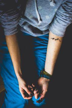 Mountain tattoo #tattoo #mountain #ink