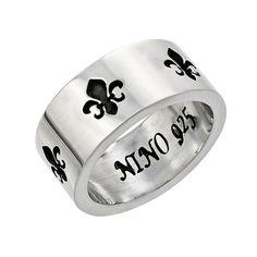 Classic Fleur De Lis Band. #motorcycle #motorcycles #jewelery #skull #skulljewelery #forher #giftforher #women #gift #jewelery