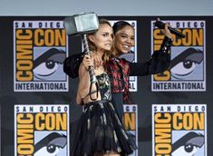 From Natalie Portman as the female Thor to Tessa Thompson as the first LGBTQIA character in the franchise, these are all the ways Marvel is prioritising its female narratives. Marvel Comic Con, Marvel Films, Marvel Funny, Tessa Thompson, Female Superhero, Superhero Movies, Future Marvel Movies, Female Thor, Studios