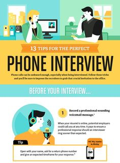 Infographic: 13 Tips For The Perfect Phone Interview