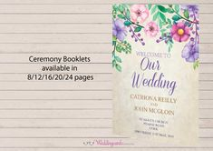 30% off all wedding ceremony booklets and pamphlets for a limited time only. Wedding ceremony stationery plays an important part of your ceremony where guests may want to follow the prayers, hymns, order of wedding ceremony and see any other wedding traditions which are meaningful to you or even incorporate some symbols which symbolise new beginnings.