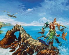 Dragonsong is one of my favorite books of all time. This cover by Rowena is my favorite book cover EVER!