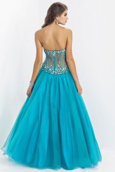 Sexy Sweetheart Princess Floor Length Prom Dress Pick Up Tulle Skirt Beaded With Rhinestone