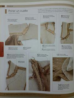 Sastreria rapida. La biblia de la costura. Sewing Lessons, Sewing Hacks, Sewing Tutorials, Coat Patterns, Sewing Patterns, Sewing Collars, Couture Sewing Techniques, Making A Wedding Dress, Tailoring Techniques
