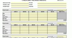 Receipt For Year End Daycare Services Child Care Services