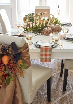 """Our lovely Script """"Gather"""" accent is perfect for the home where friends and family are always welcome."""