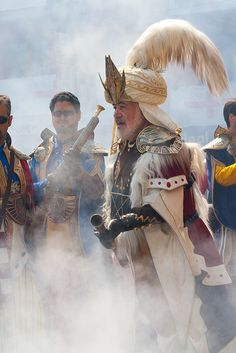 Alcoy, Alicante, Spain is known for its mock battles between the Moors and Christians.