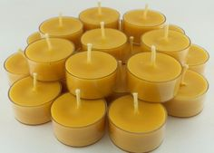 Organic Beeswax 650 Tea Light Candles JASMINE in