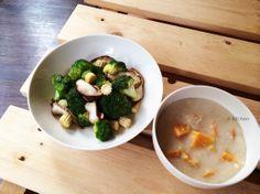 20140314_蒜香香菇花椰菜+地瓜燕麥粥