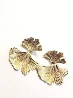 Goal Digger Gold Statement Leaf Earrings