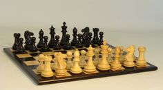 Sharp Wooden chess set! Black and Boxwood Set with Black Birdseye Maple Board, so nice, great value and quality, plus service a step above the rest! #woodchesssets