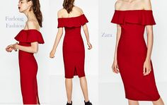 Red Dress furlong fashion Zara Racing Fashion Fashion At The Races Races Fashion, Zara Fashion, Color Trends, Lady In Red, Hue, Racing, Dresses, Design, Madame Red