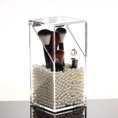 De alta qualidade acrílico gaveta de cosméticos maquiagem caso de organizador titular de armazenamento a inserção, Caixa de jóias transparente cotonete para receber