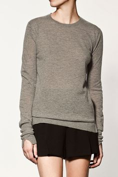 Zara Cashmere Sweater, $89.90, available at Zara.
