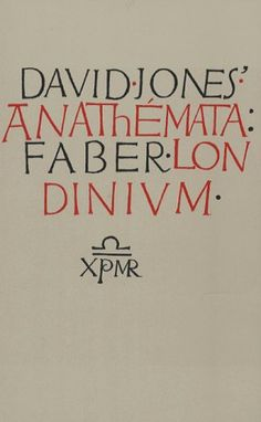 Eighty Years of Book Cover Design by Faber and Faber David Jones Poetry, Book Cover Design, Book Design, National Museum Of Wales, Typography Design, Lettering, William Golding, New Books, Writing