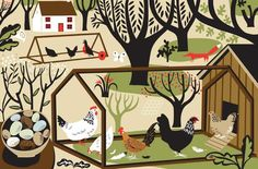 The Wisdom for Hen Keepers Melvyn Evans Rooster Art, Chickens And Roosters, Arts Award, Forest Fairy, Beautiful Artwork, Cool Art, Fun Art, Art Images, Digital Illustration