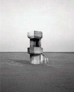 """Observatories"" by Noémie Goudal http://www.noemiegoudal.com/ #Projects #PhotoSeries #art, #architecture, #blackandwhite, #landsscape"