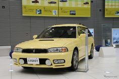 """Second generation SUBARU LEGACY Touring Wagon: SUBARU holds """"The finest cars exhibition of the Pleiades"""" in the head office showroom. (http://response.jp/article/2015/09/17/260268.html)"""