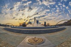 While sunrise from Mt. Washington/West End in #Pittsburgh is beautiful, it can be just as stunning from the Point!