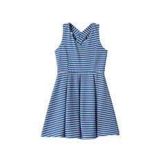 Girls 7-16 & Plus Size Lilt Striped Skater Dress, Size: 14 1/2, Med Blue