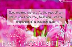 Good Morning Cards- Have a Wonderful Day Greeting Cards Images Good Morning Greeting Cards, Online Greeting Cards, Good Morning Greetings, Good Morning Wishes, Good Morning My Love, Good Morning Picture, Good Morning Flowers, Have A Great Day, Morning Quotes Images
