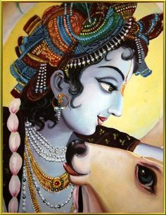 Madhura-Adhipater-Akhilam Madhuram, Everything about You is Sweet and Charming, O Lord of Sweetness, Lord Krishna. Jai Shree Krishna, Krishna Radha, Lord Krishna, Krishna Drawing, Krishna Painting, Indian Artwork, Indian Art Paintings, Cute Krishna, Tanjore Painting