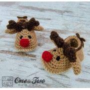 Reindeer Booties - Baby Sizes - Crochet Pattern