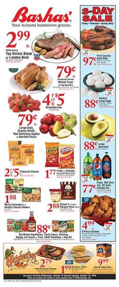 Bashas Weekly Ad October 12 - 18, 2016 - http://www.olcatalog.com/grocery/bashas-weekly-ad.html