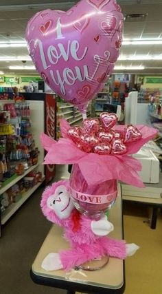 48 Elegant Dollar Tree Valentines Decoration Ideas Like all holidays, Valentine's Day comes with more than its fair share of. Actually, I was thinking […] Valentines Decoration, Valentines Day Baskets, Valentines Day Gifts For Her, Valentine Day Crafts, Valentine Ideas For Her, Bouquet St Valentin, Saint Valentin Diy, Valentines Bricolage, Candy Bouquet
