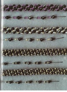 * bead crochet patterns using gemstone chips and various sizes of seed beads
