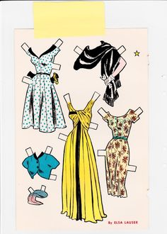 "Movie Star paper doll by Elsa Lauser (2 of 2), ""Jack & Jill"" mag., July 1954 