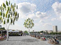 Furturistic Wind Turbines Take the Form of Sleek Minimalist Trees - My Modern Met