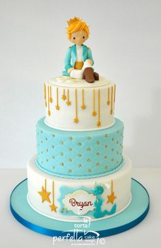 The Little Prince Cake by La torta perfetta Little Prince Party, The Little Prince, Prince Birthday Party, Birthday Cake, Birthday Ideas, Fondant Cakes, Cupcake Cakes, Festa Mickey Baby, Prince Cake