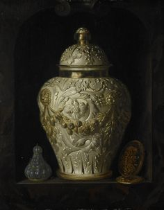 Pieter Gerritsz van Roestraten (1630-1700)  —   Still Life with Silver Jar,  1670-1675 :  The Rijksmuseum,  Amsterdam. Netherlands (1945×2502)